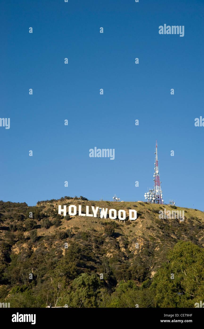 Die berühmten Hollywood-Schriftzug in den Hollywood Hills Stockbild
