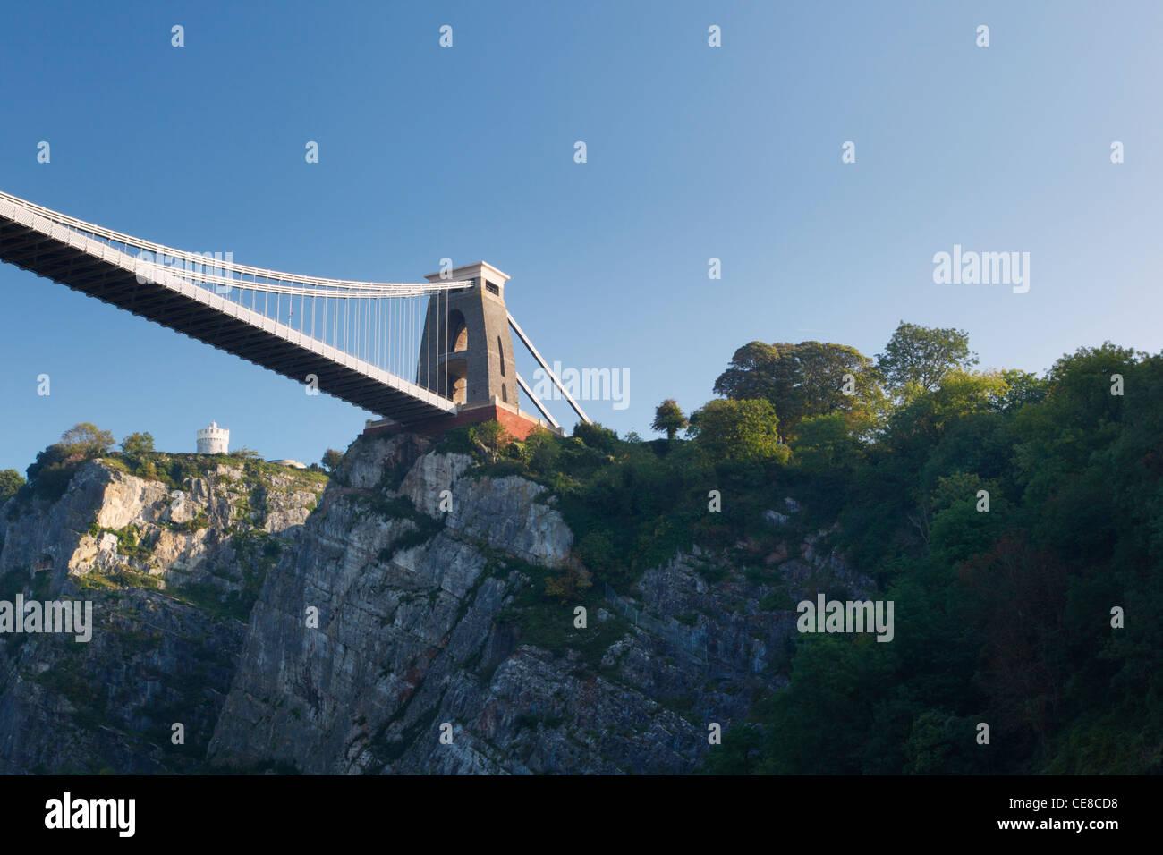 Clifton Suspension Bridge überspannt die Avon-Schlucht. Bristol. England. VEREINIGTES KÖNIGREICH. Stockbild