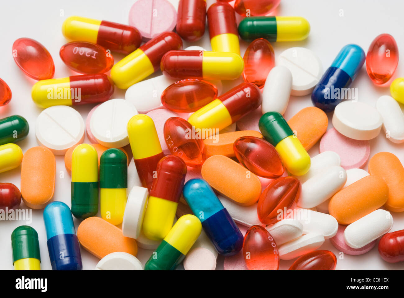 Verschiedene Pillen Stockbild