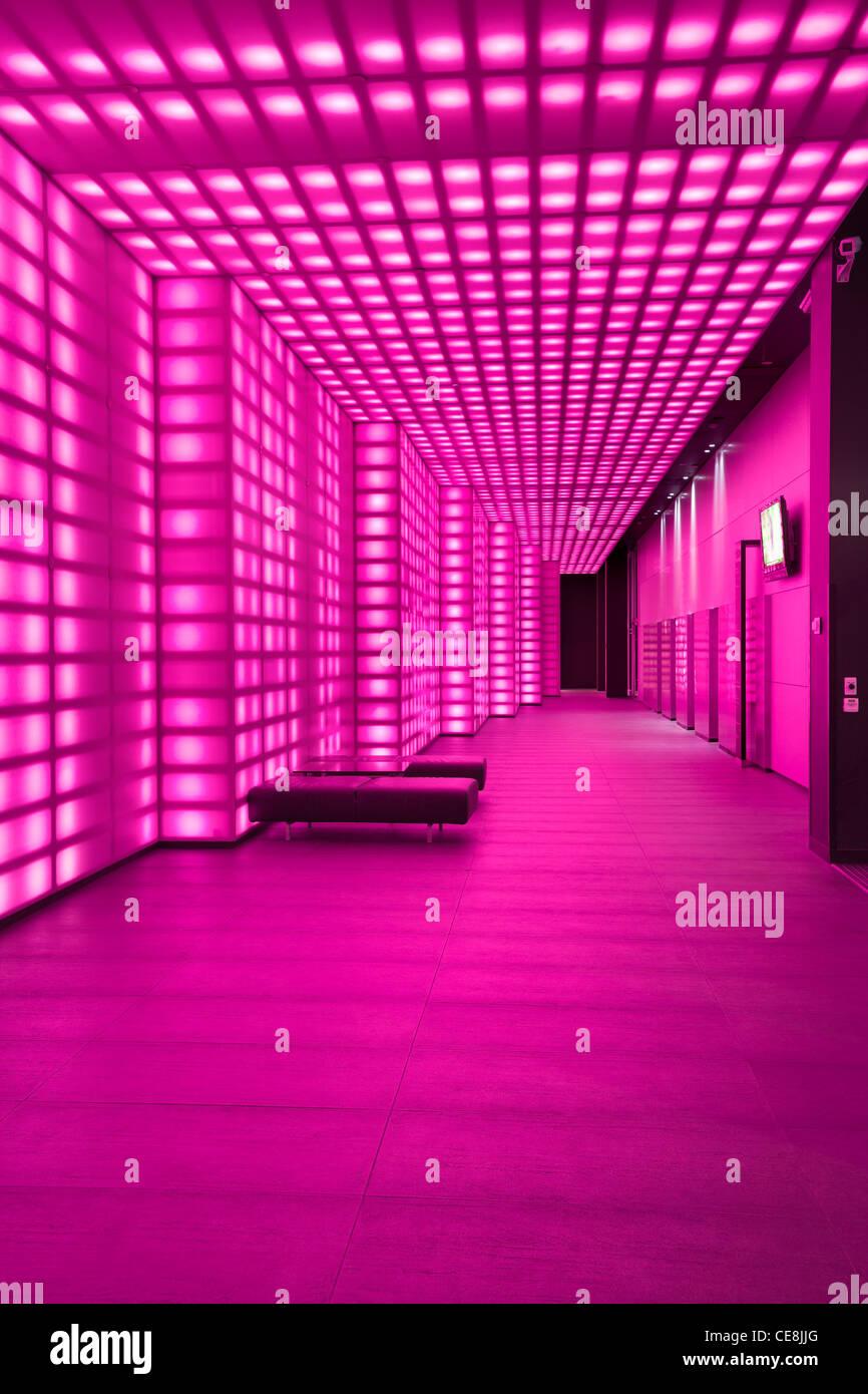 Rosa Beleuchtung Wand Beleuchtung Lobby Eingang Zimmer Night Club