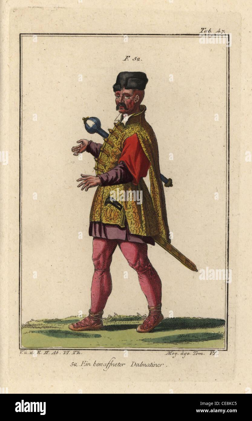 Ein bewaffneter Mann von Dalmatien. Stockbild