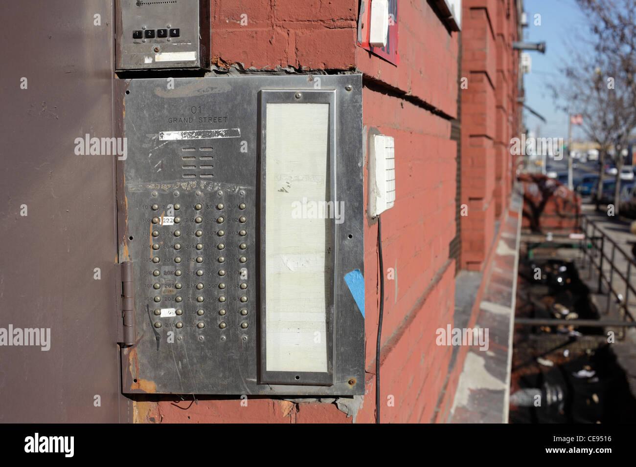 Türsprechstelle Glocke Stockbild