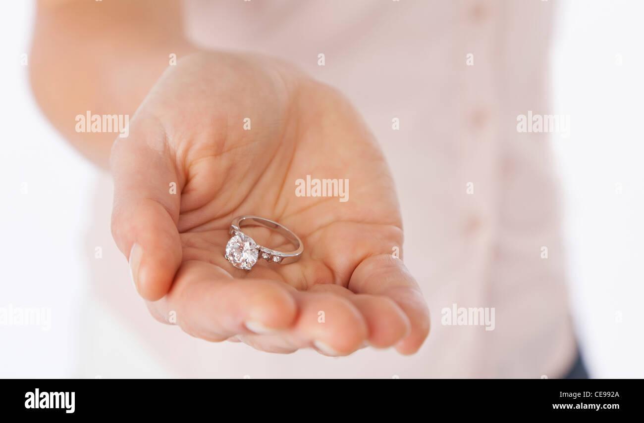 Usa Illinois Metamora Close Up Of Woman Es Hand Holding