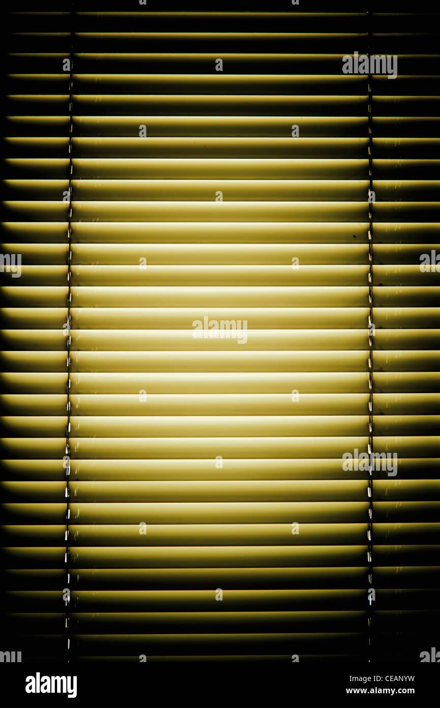 Geschlossene Fenster-Vorhänge Stockbild