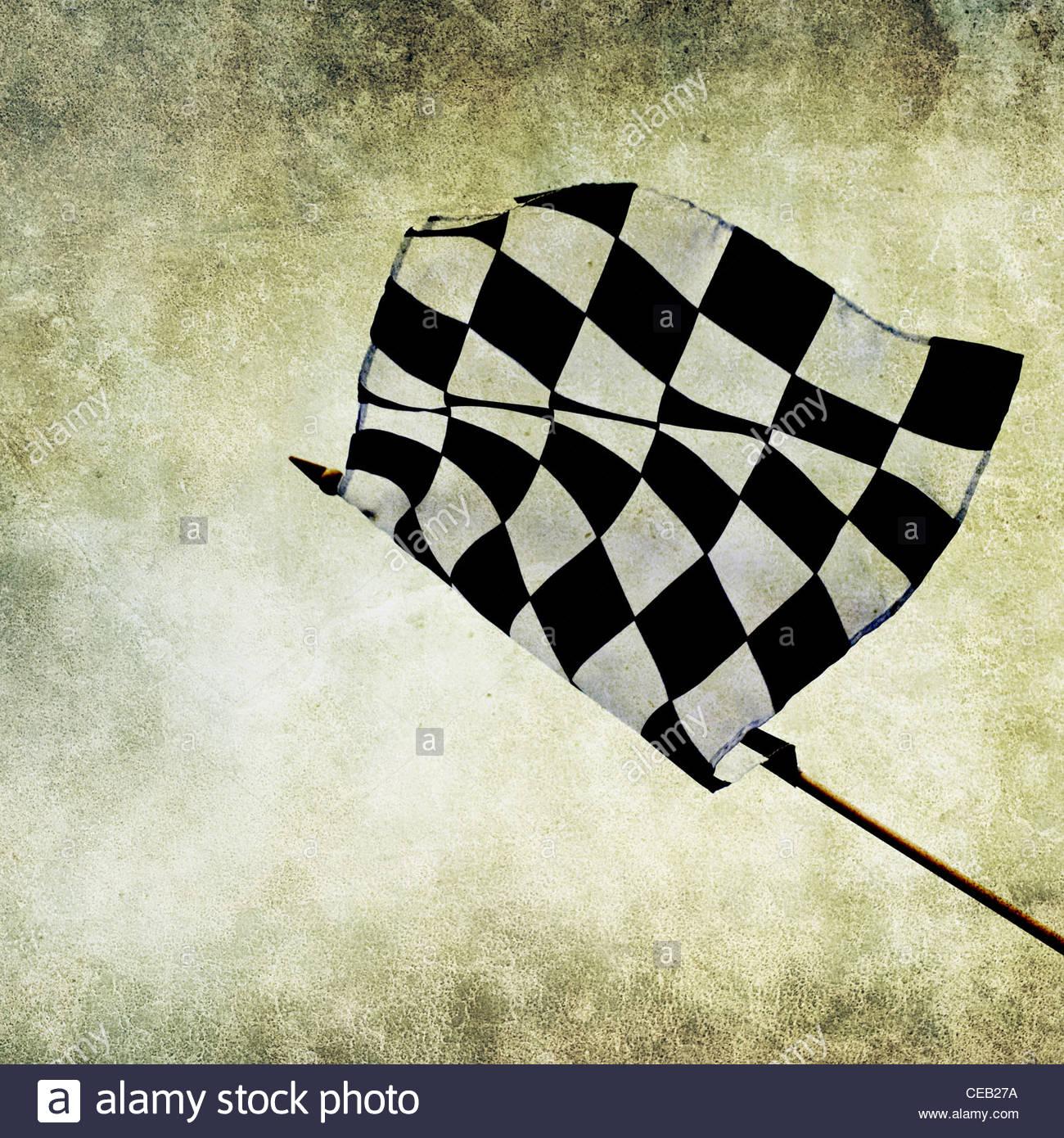 Gewinner-Flagge drucken Stockbild
