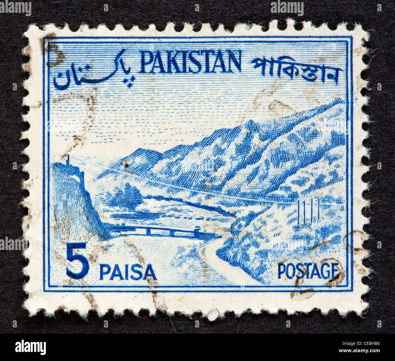 Pakistanische Briefmarke Stockbild