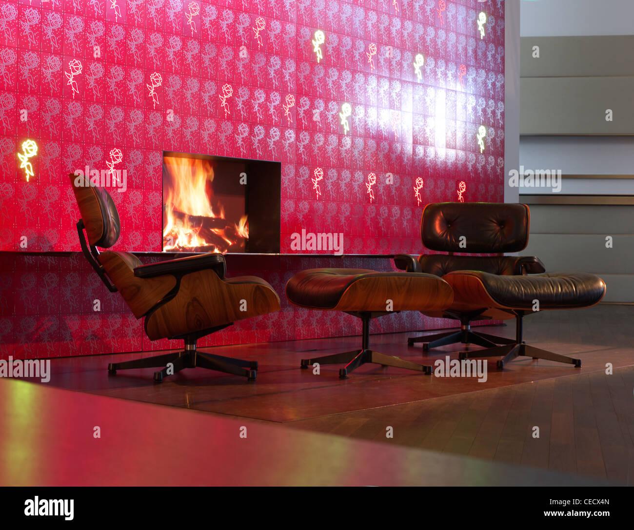 Eames Lounge Chair In Der Eingangshalle Der BMW Welt, München Stockbild