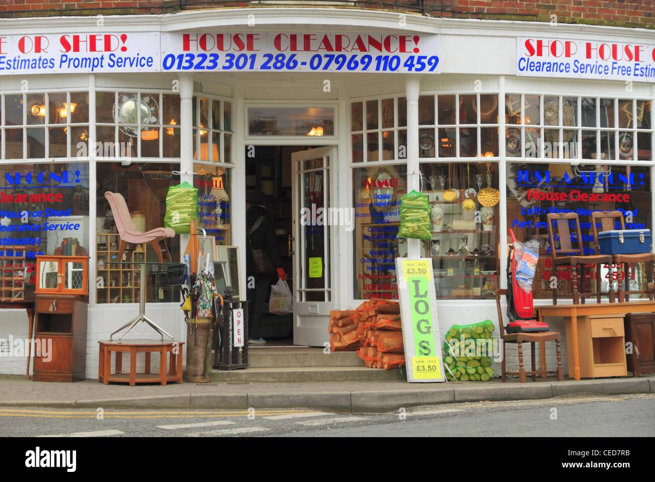 Shop Haus Abstand Bric Einem Brac Zweite 2nd Hand Gebrauchte Mobel Antiquitaten Vorne Shops Strasse Stockbild