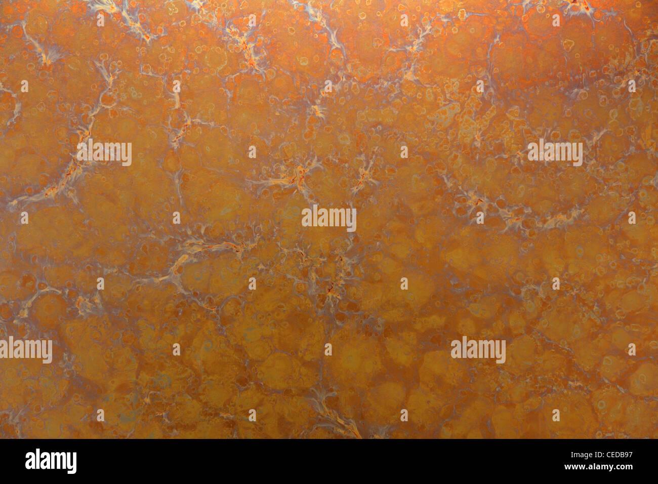 Abstrakt orange Metall Textur Stockbild