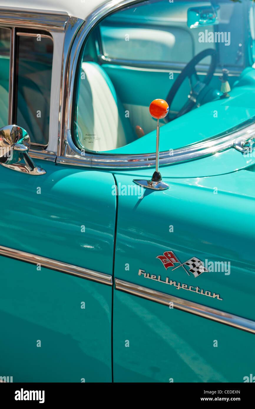 Auto Show, Solvang, Santa Ynez Valley, Vereinigte Staaten von Amerika Stockbild