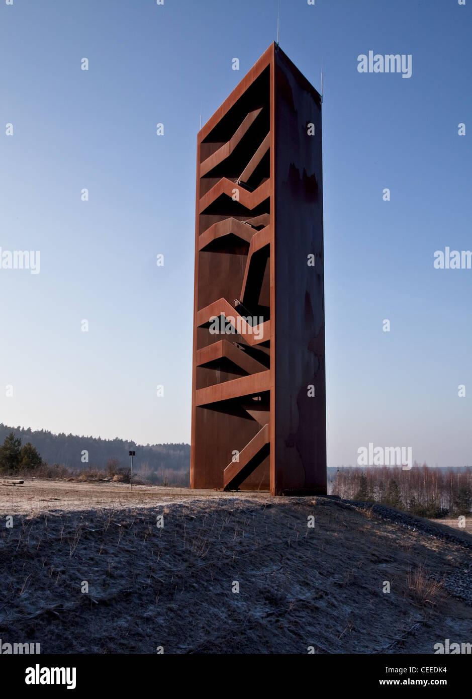 """Senftenberg, Landmarke Lausitzer Seenland, Sogenannter """"Rostiger Nagel, 2008 von S. Gabriel Und S. Giers Erbaut, Stockbild"""