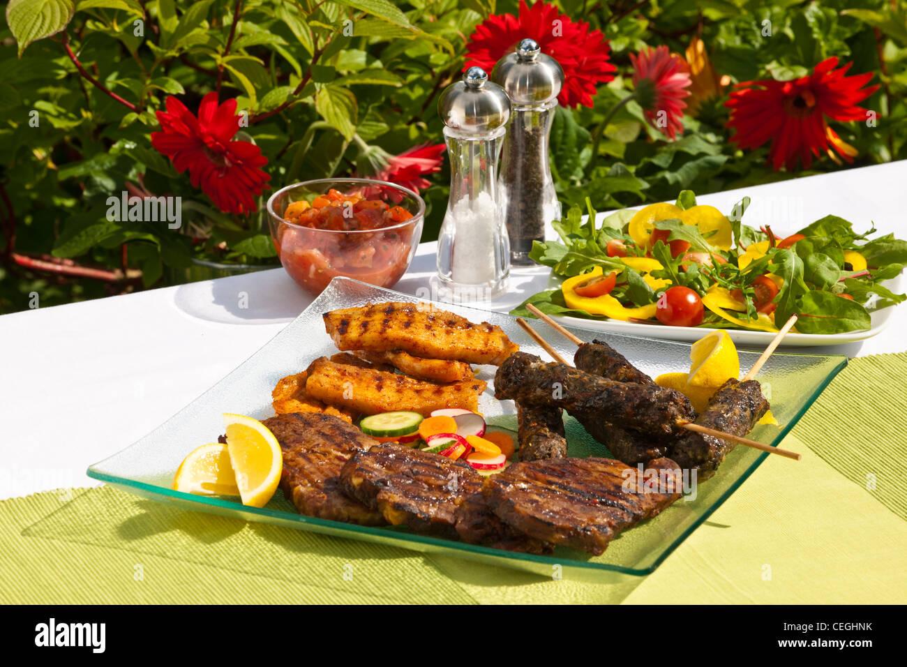 Sommer BBq Essen Stockbild