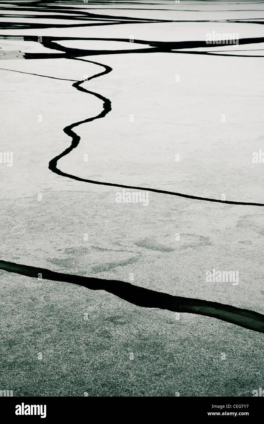 Zugefrorenen See Stockbild