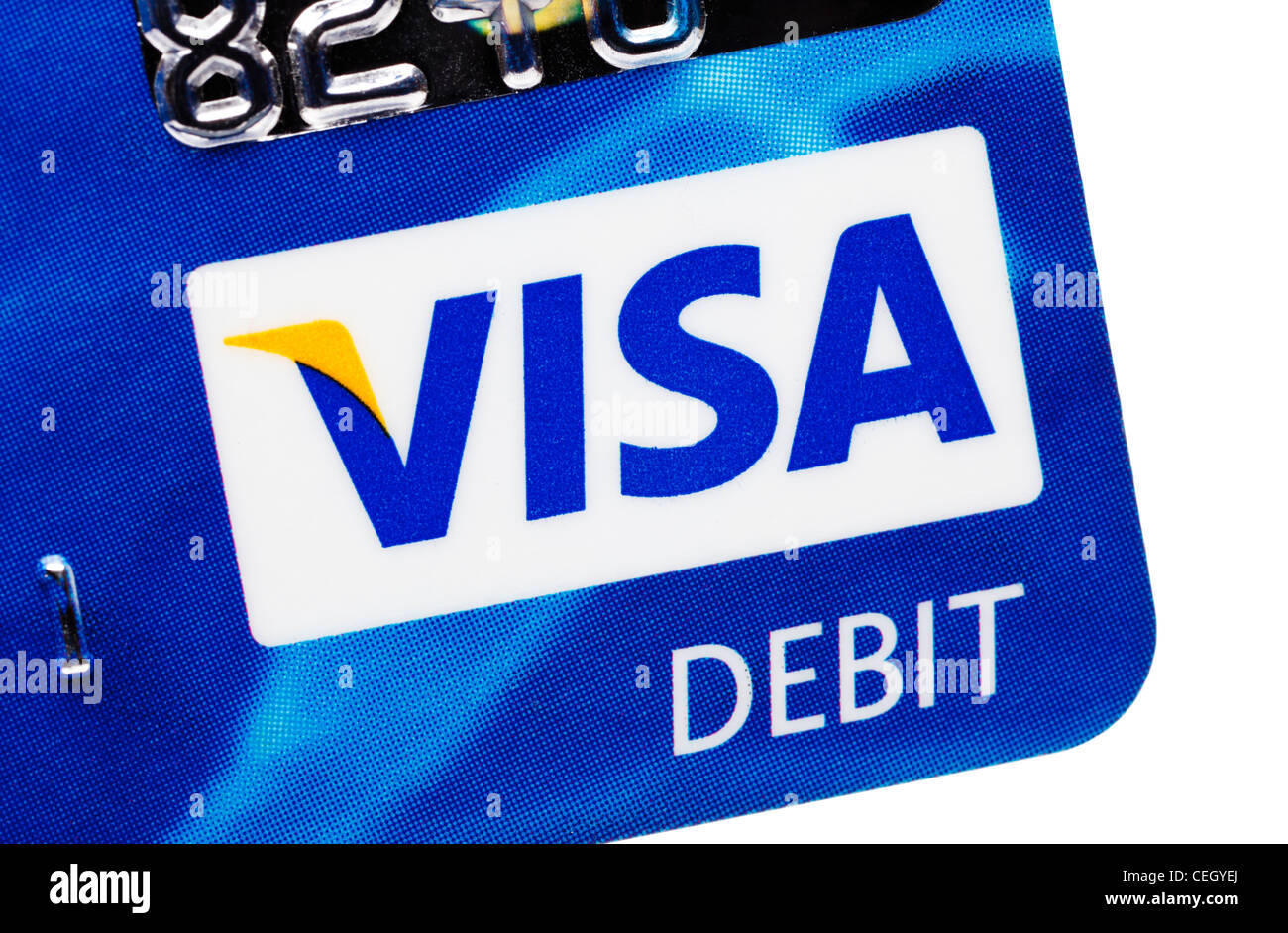 Visa debit card logo Nahaufnahme Stockfotografie - Alamy