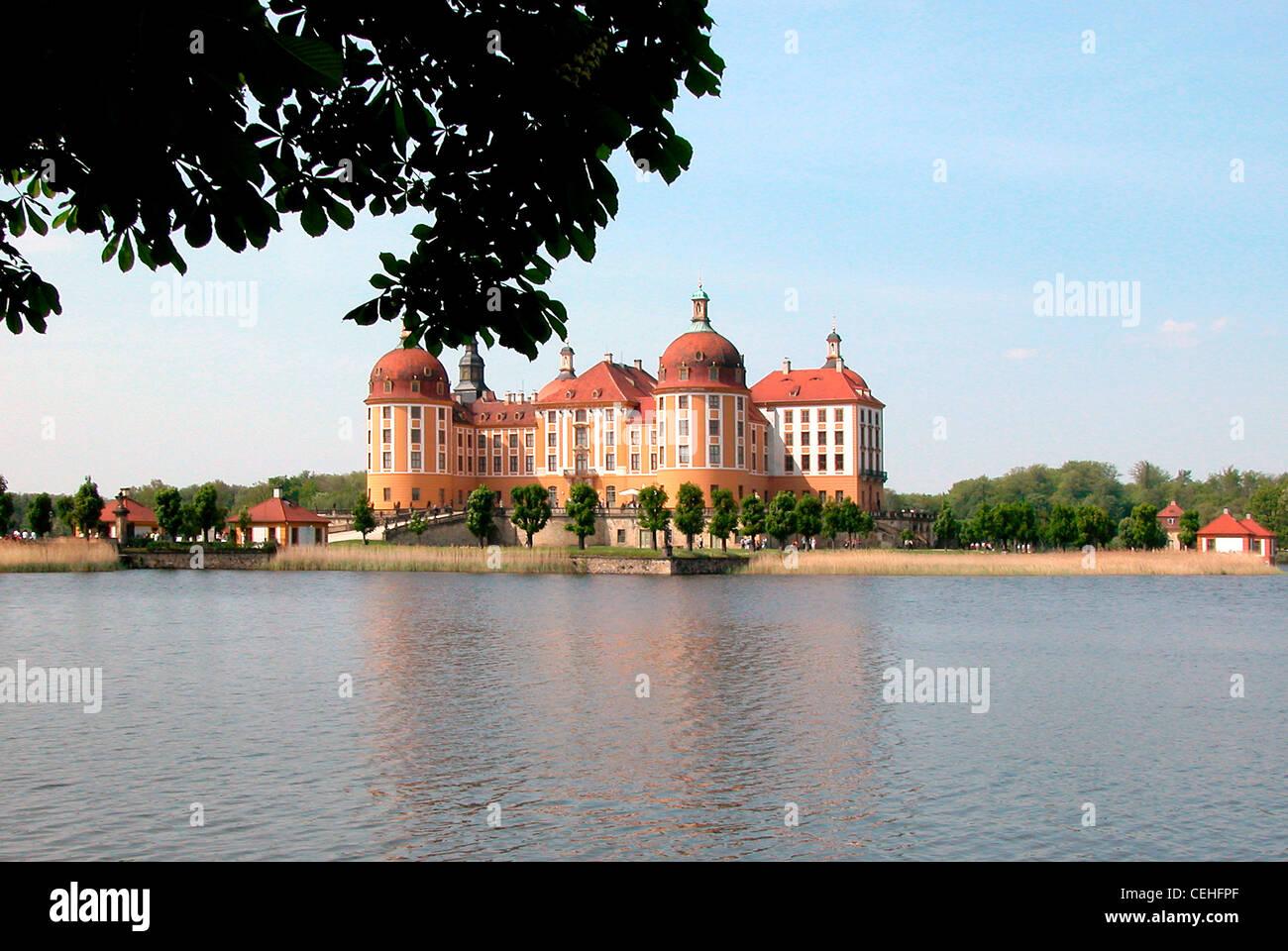 Schloss Moritzburg bei Dresden. Stockbild
