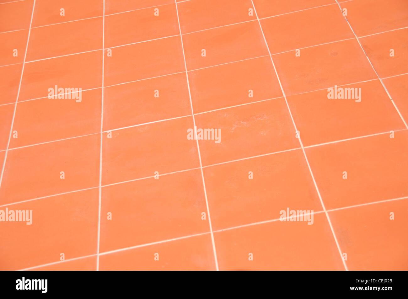 rote Keramik Küche Bodenfliesen als Hintergrund oder Textur ...