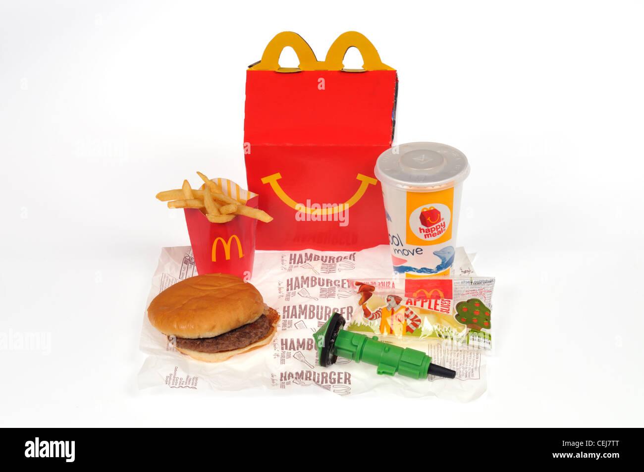 Hamburger Pommes Frites Getränk Und Spielzeug Von Einem Mcdonalds