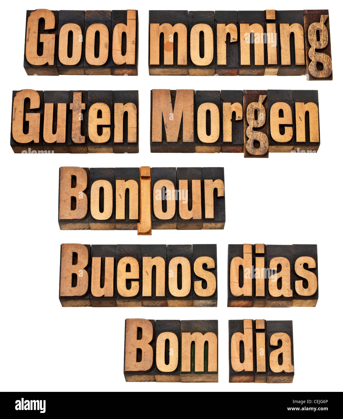 Guten Morgen In Fünf Sprachen Englisch Deutsch