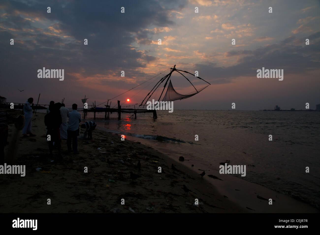 Netzstrümpfe in Cochin, Kerala, Indien Stockbild