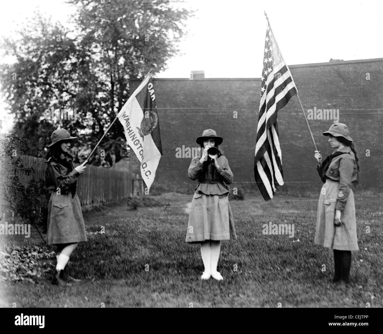Pfadfinderinnen, Amerika Stockbild