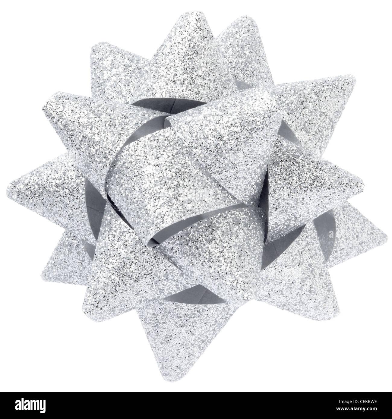 Silber Glitter Bogen Stockbild