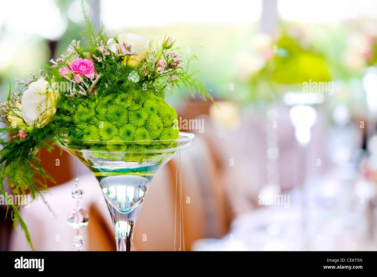 Hochzeit Party Deko Bunte Blumen Und Defokussierten
