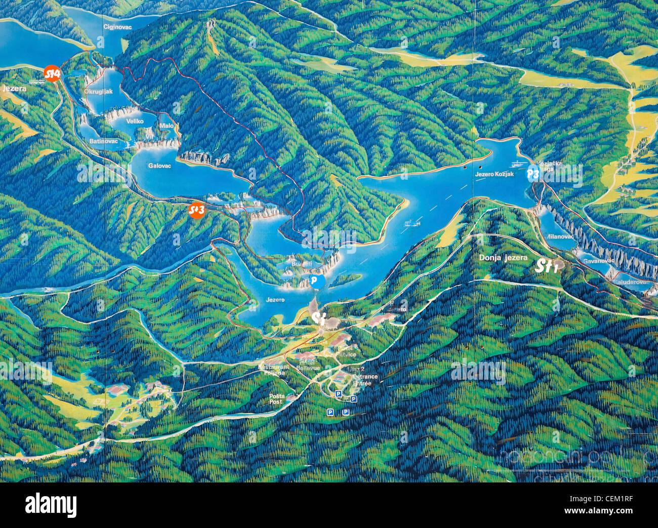 Nationalpark Plitvicer Seen Karte.Nationalpark Plitvicer Seen Lika Senj Kroatien Vollformat