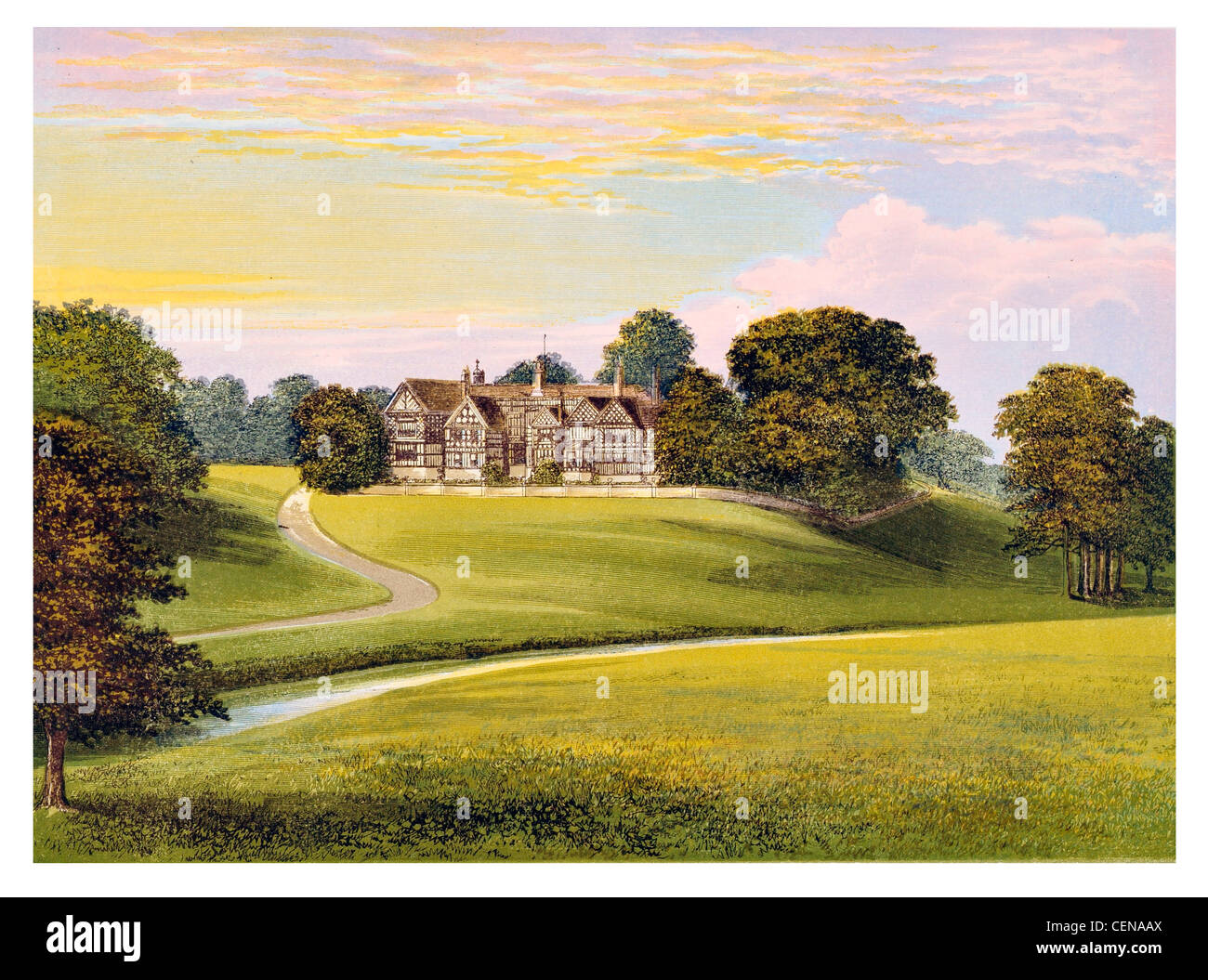 Victorian House England Manor Stockfotos & Victorian House England ...