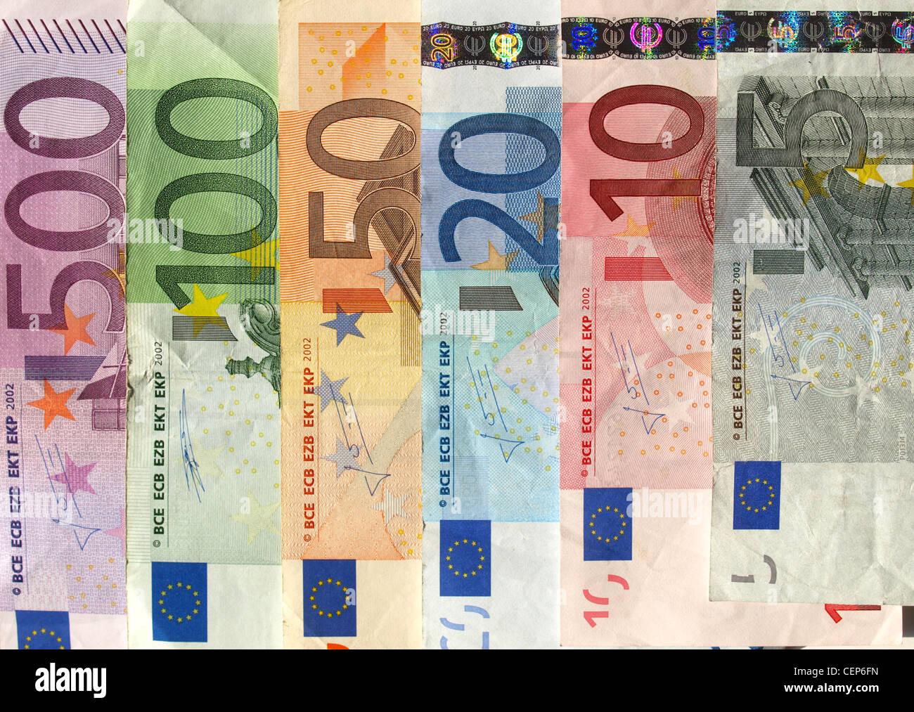 Euro-Banknote (Währung der Europäischen Union) Stockbild