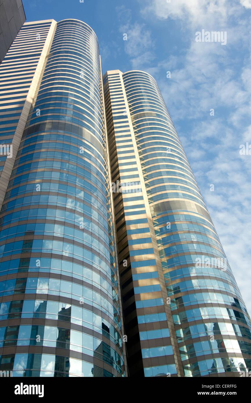 Büro-Hochhäuser, Hong Kong Island Stockbild