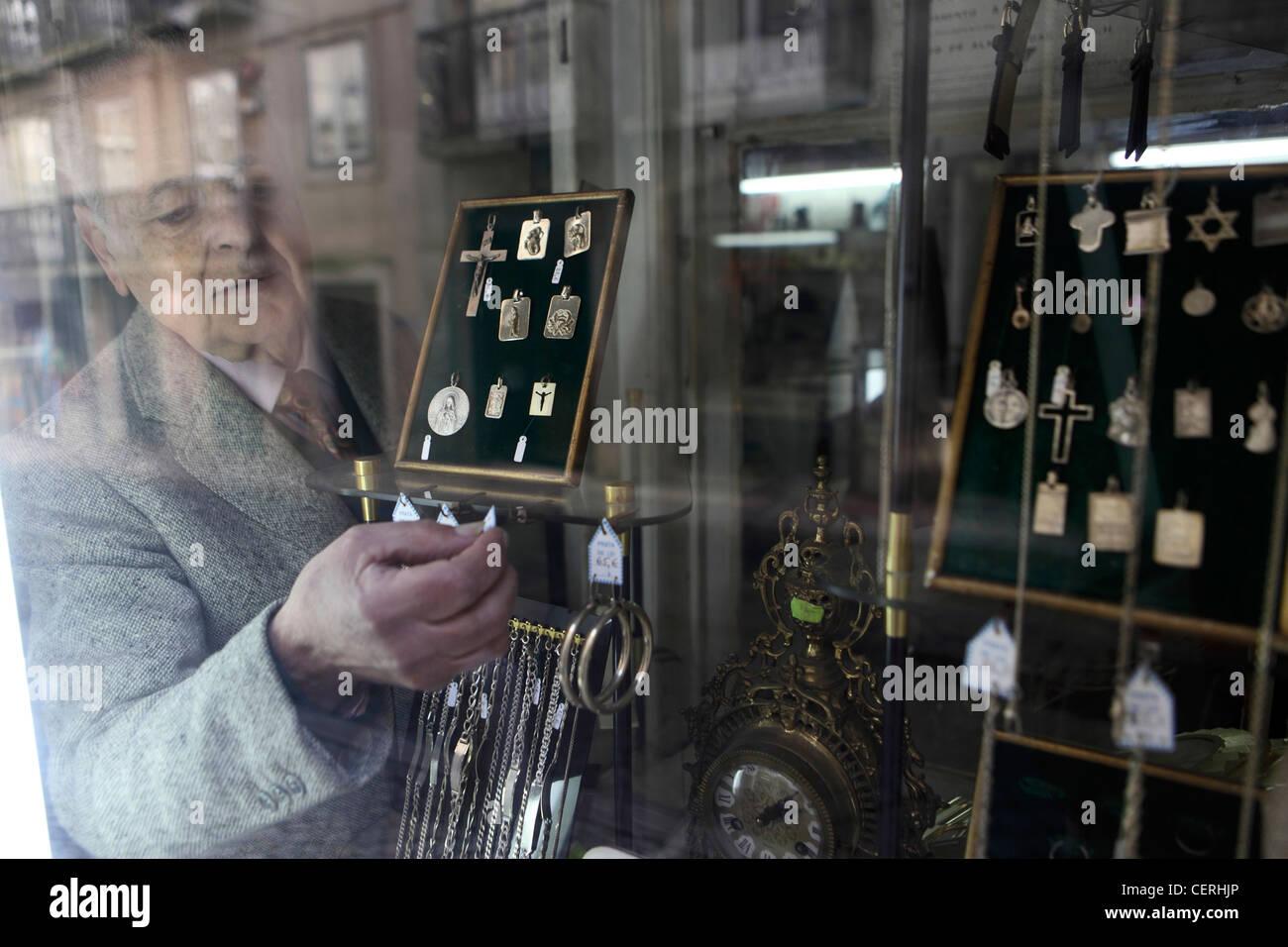 half off 8eae8 3331a Mann Strumpf Fenster im Schmuck shop-zentral-Lissabon ...
