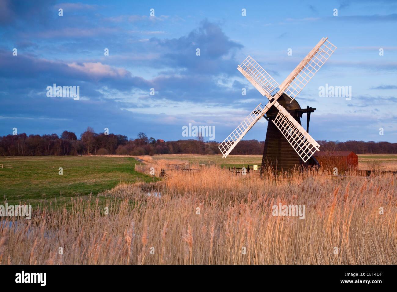 Herringfleet Entwässerung Windmühle (Walkers Mühle) gebaut im Jahre 1820, eine Klasse ll aufgeführten Stockbild