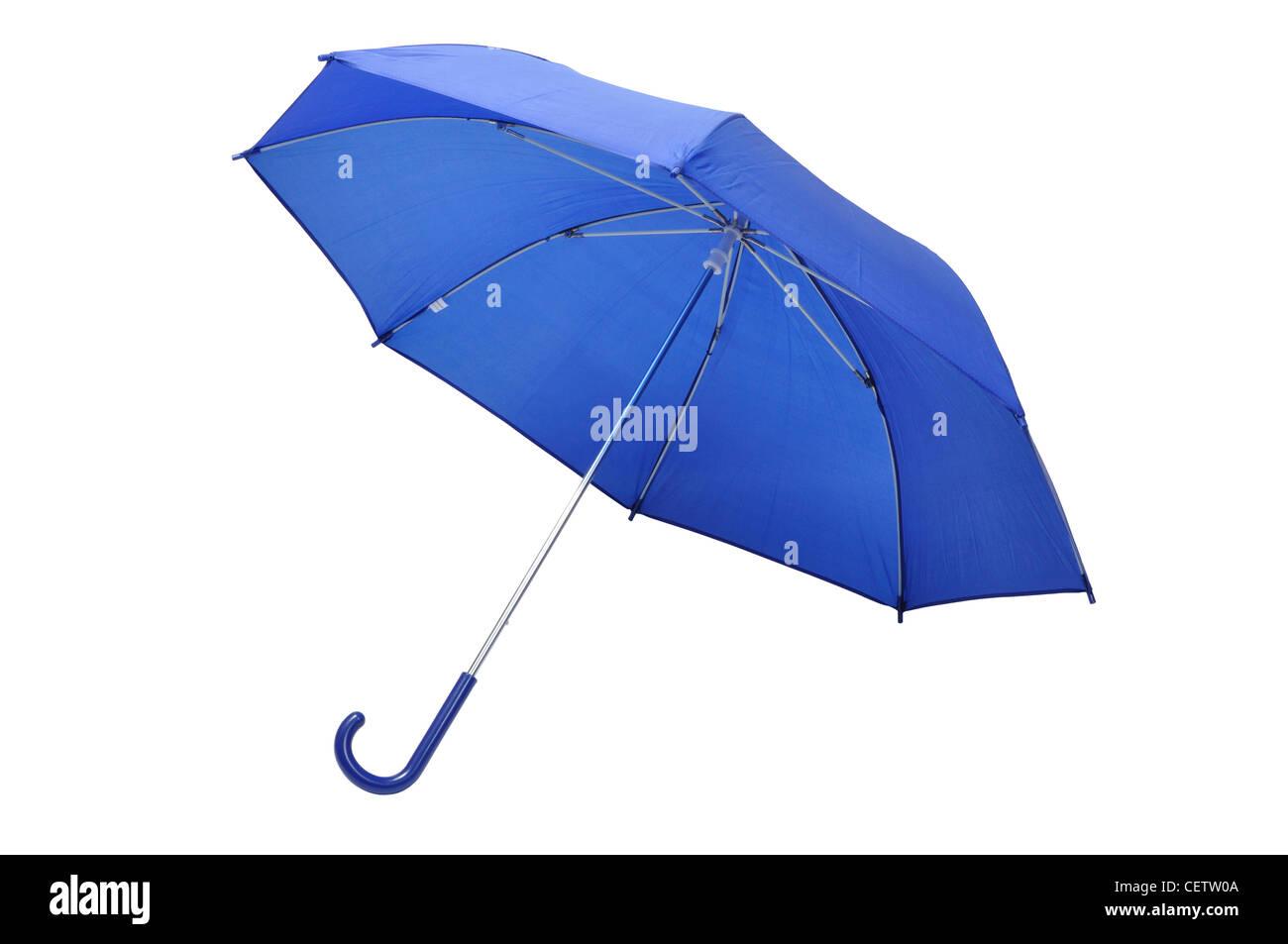 Blaue Regenschirm Stockbild