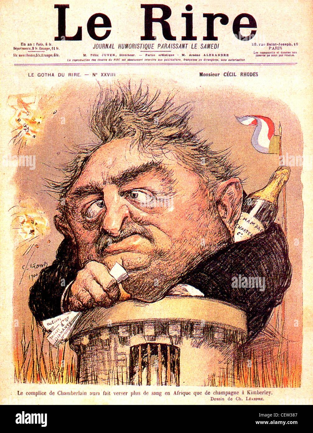 CECIL RHODES 1853 1902 Auf Dem Cover Des Franzosischen