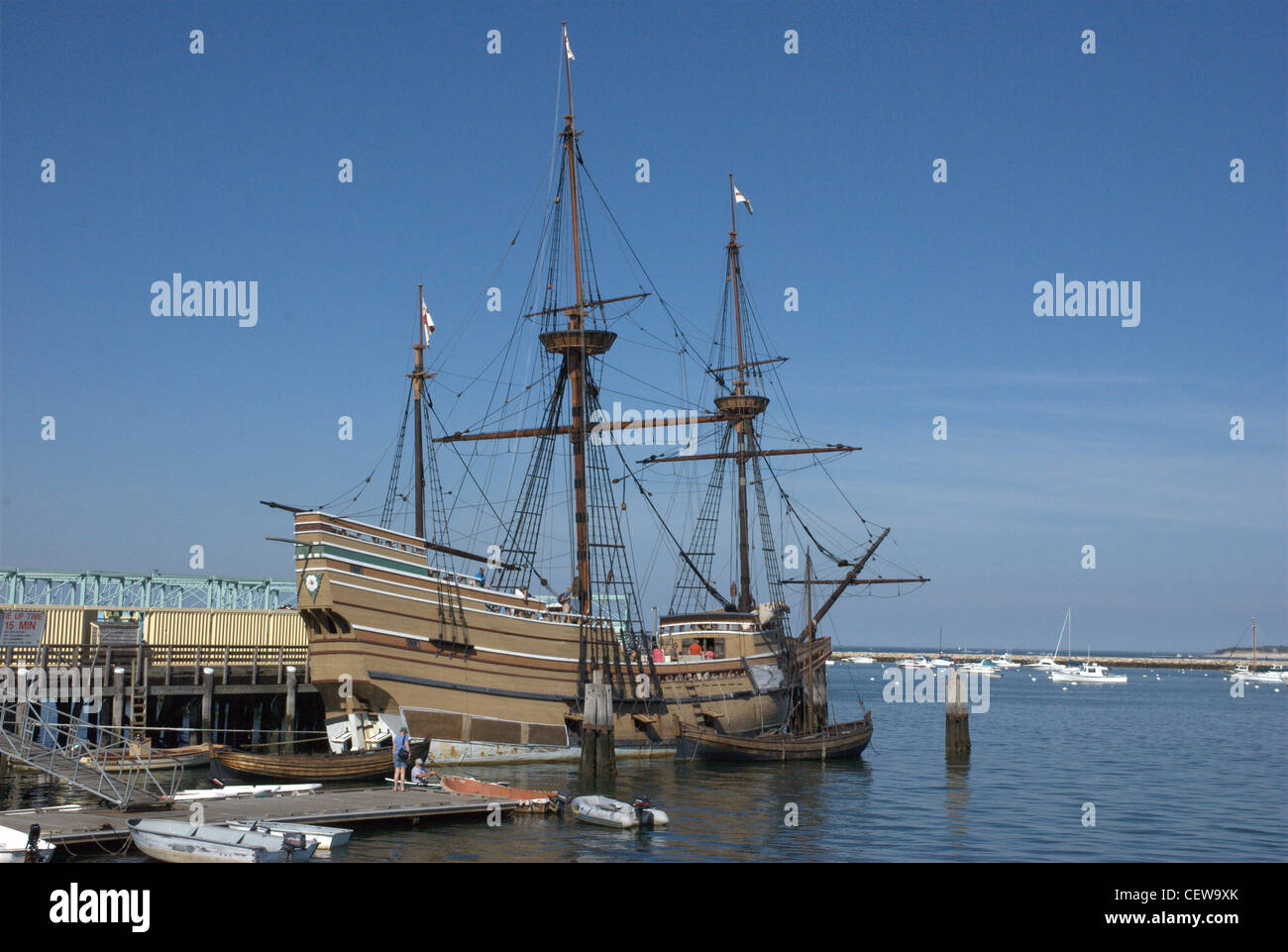 Mayflower II, Plymouth Stockbild