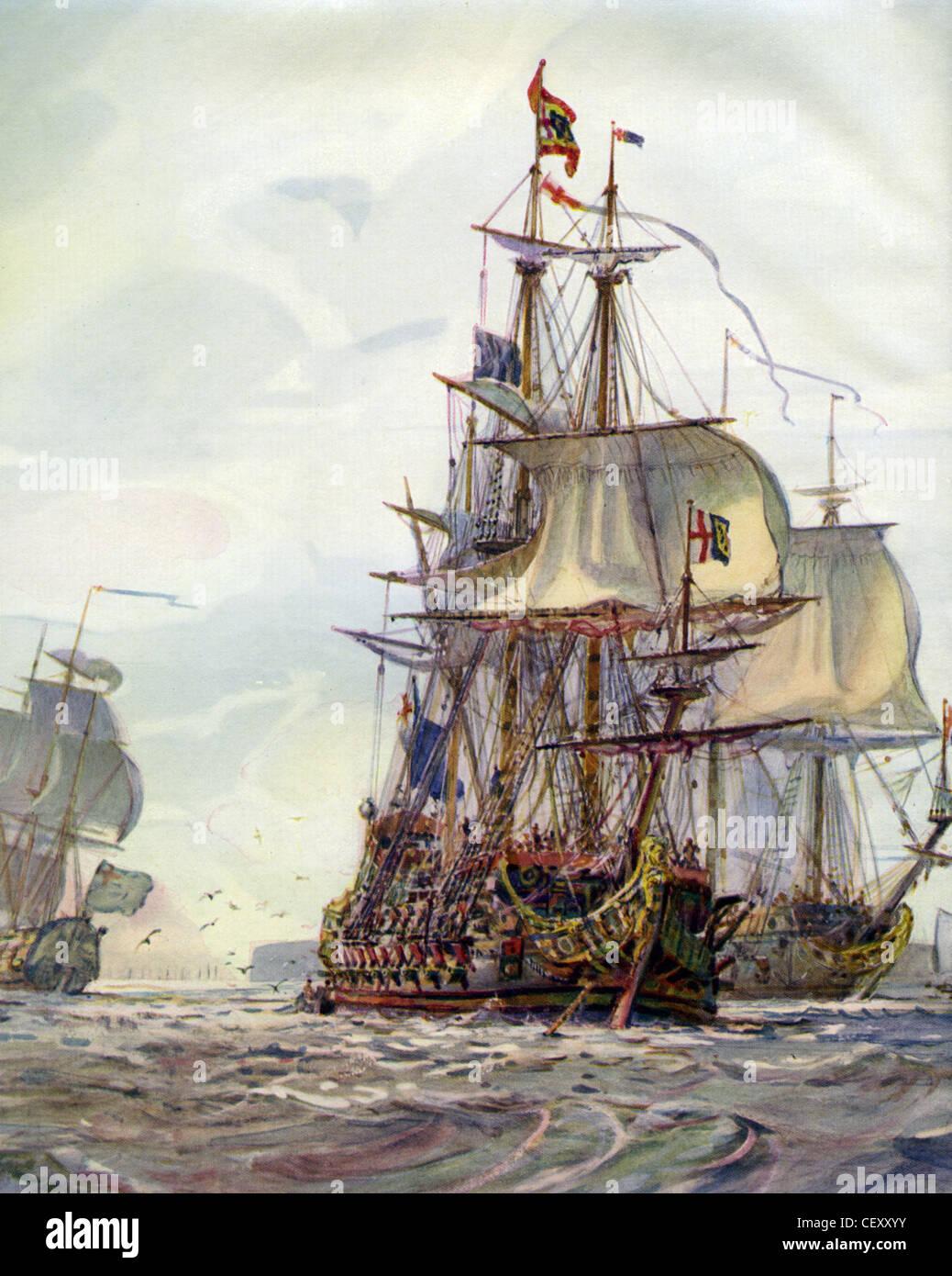 ANDREW, die unter dem Kommando von amerikanischen Nehemia Bourne wichtiger Bestandteil im englischen Bürgerkrieg Stockbild