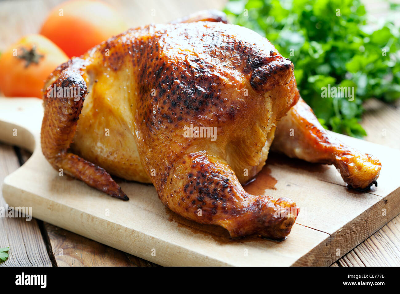 Gebratenes Huhn Abendessen Stockbild