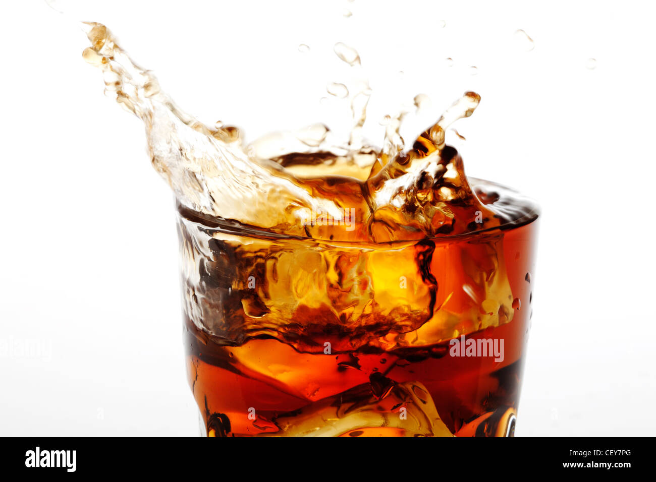 Cola-splash Stockbild