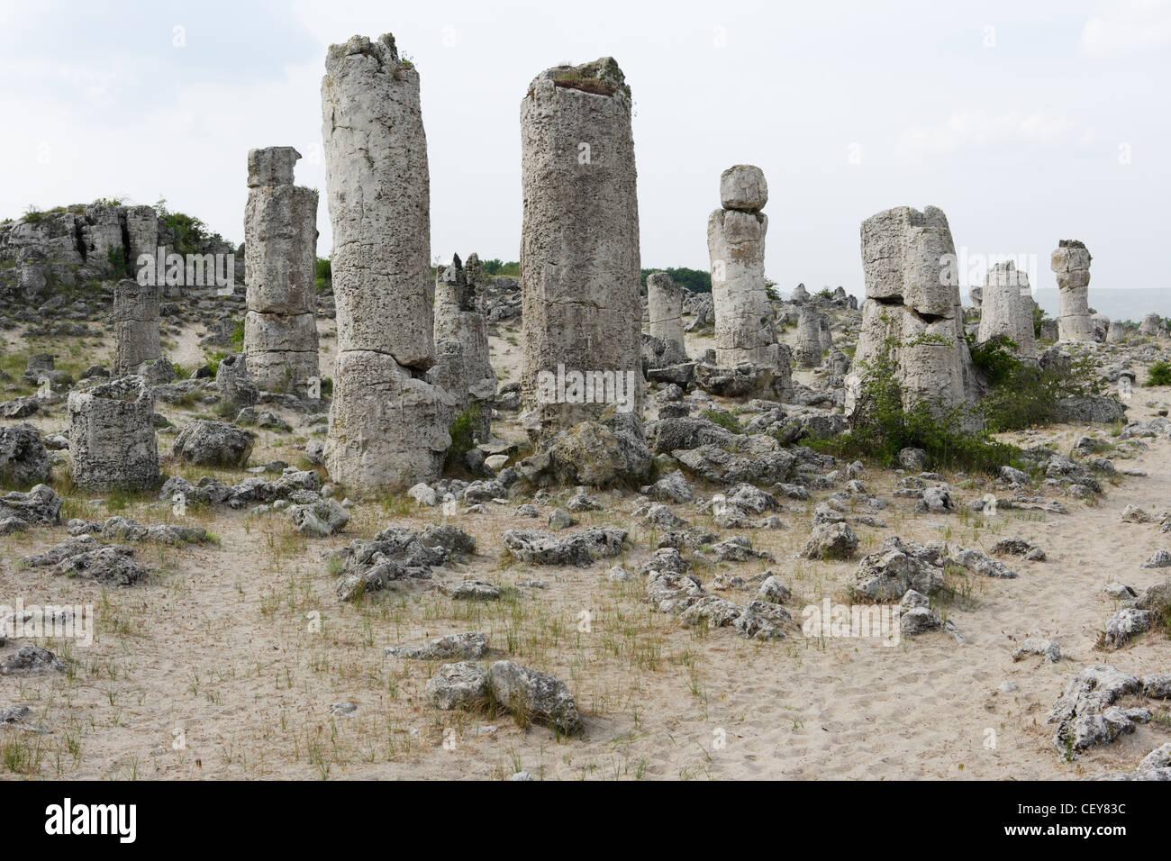 Stein-Phänomen in der Nähe von der Stadt Varna, Bulgarien Stockbild