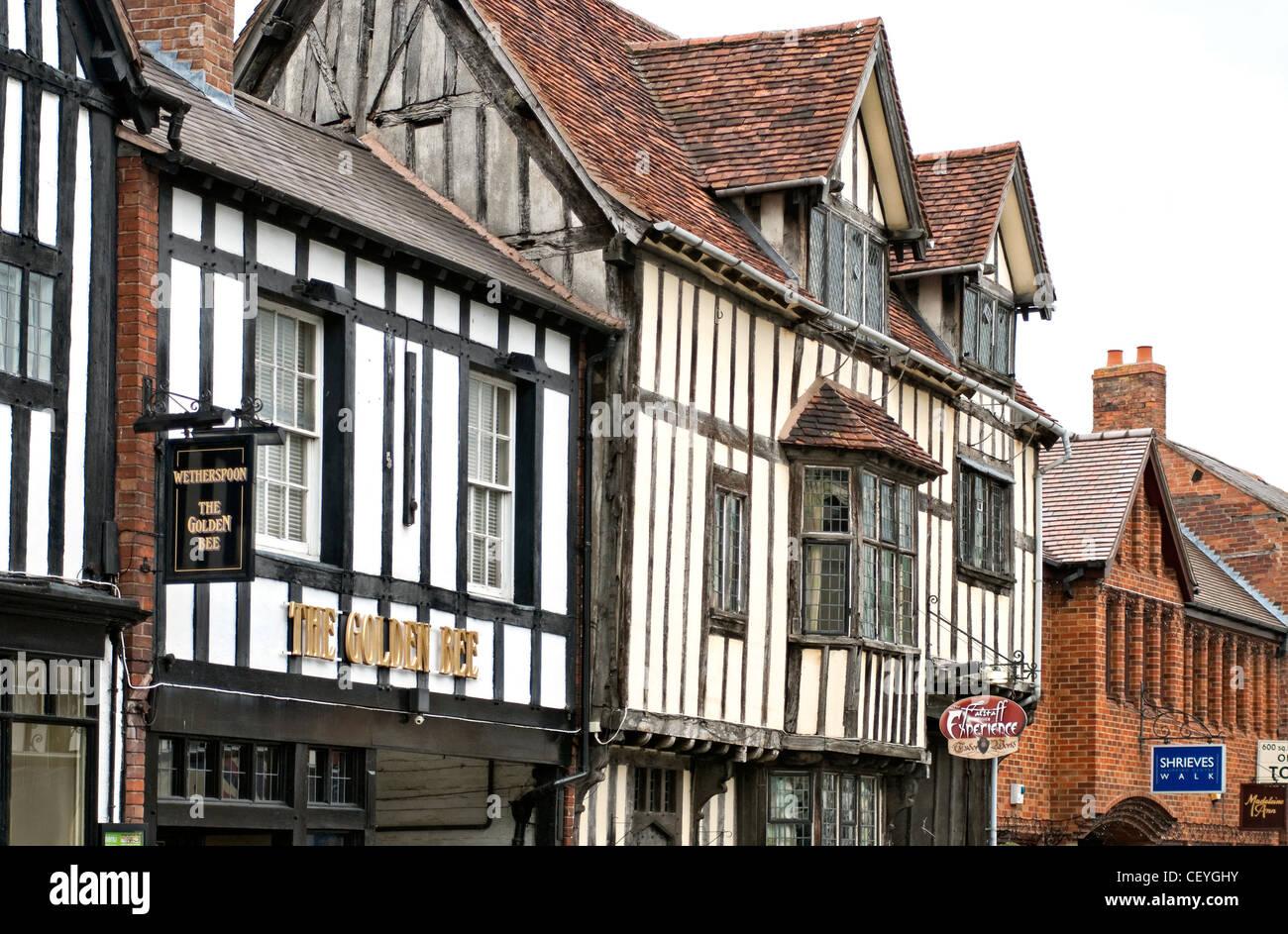 Falstaff-Erfahrung in Stratford-upon-Avon, eine preisgekrönte Besucherattraktion, die im 16. Jahrhundert zum Stockbild