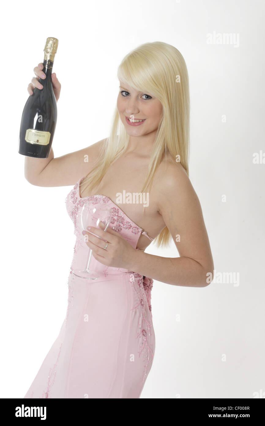 Teenager HaareBlau In Blonde Graue Augen Einem Rosa MädchenLange rdoEQeCxWB