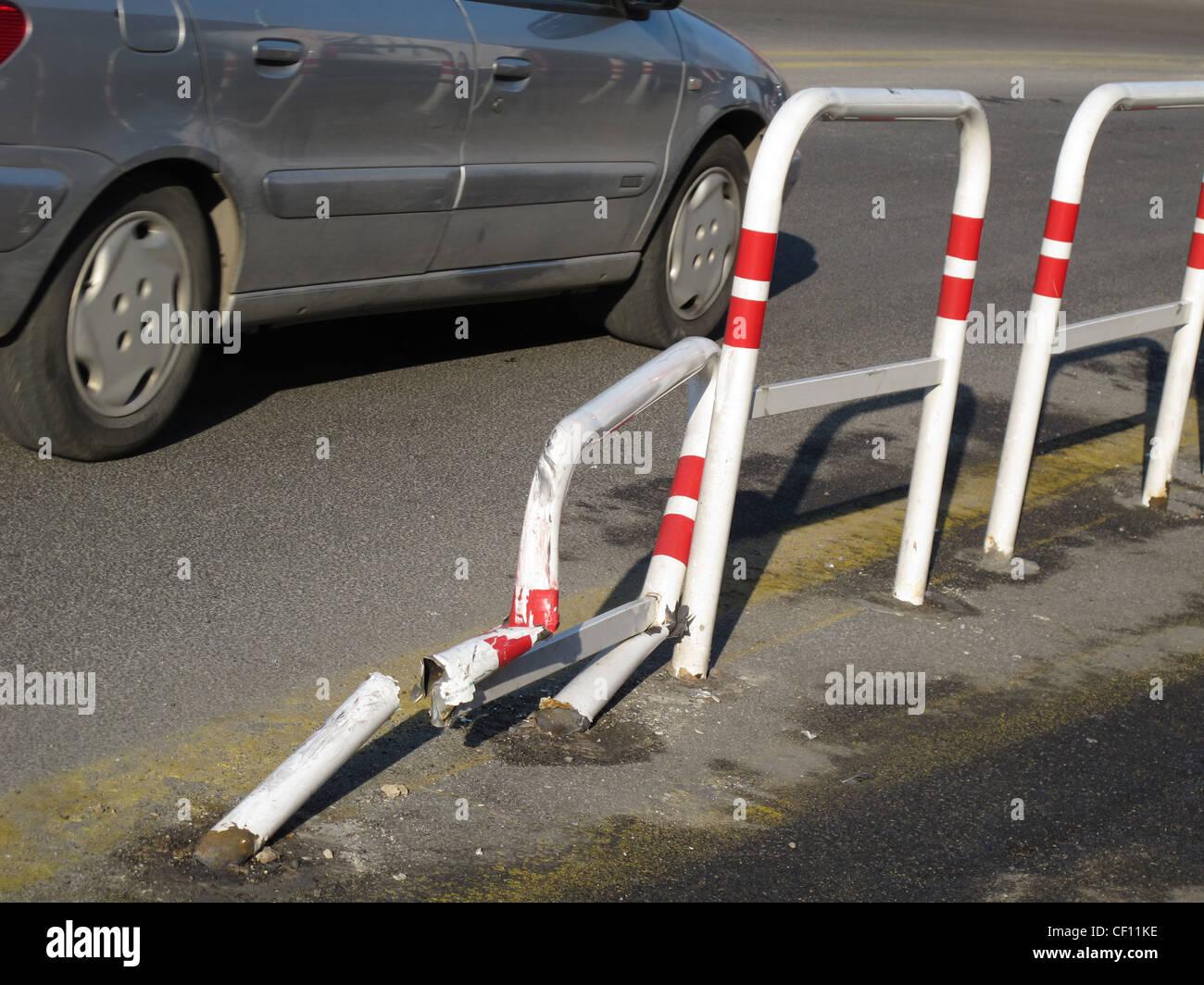 Auto-Unfall-Szene in Street Rod in Stadt Stockfoto, Bild: 43663858 ...