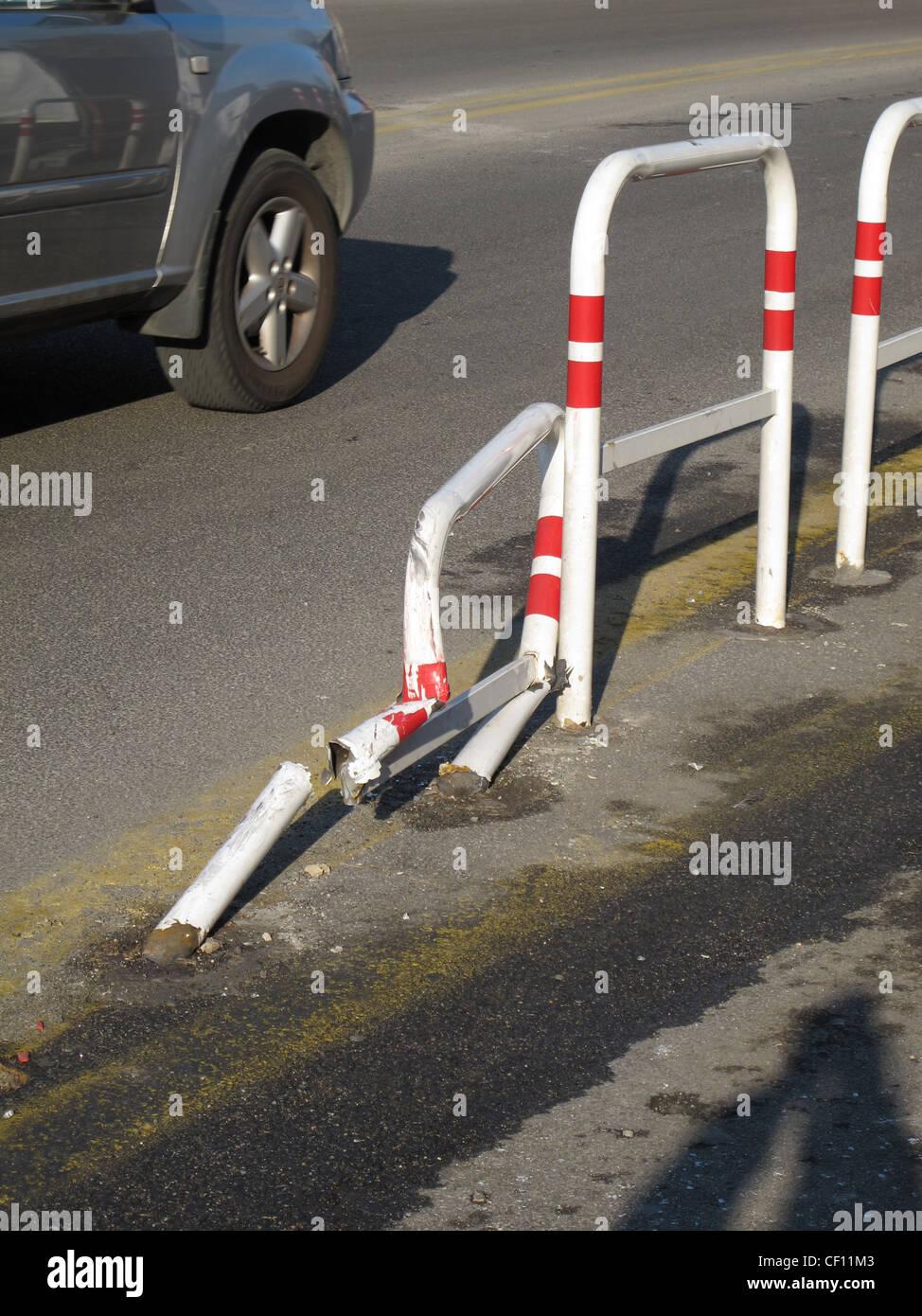 Auto-Unfall-Szene in Street Rod in Stadt Stockfoto, Bild: 43663875 ...