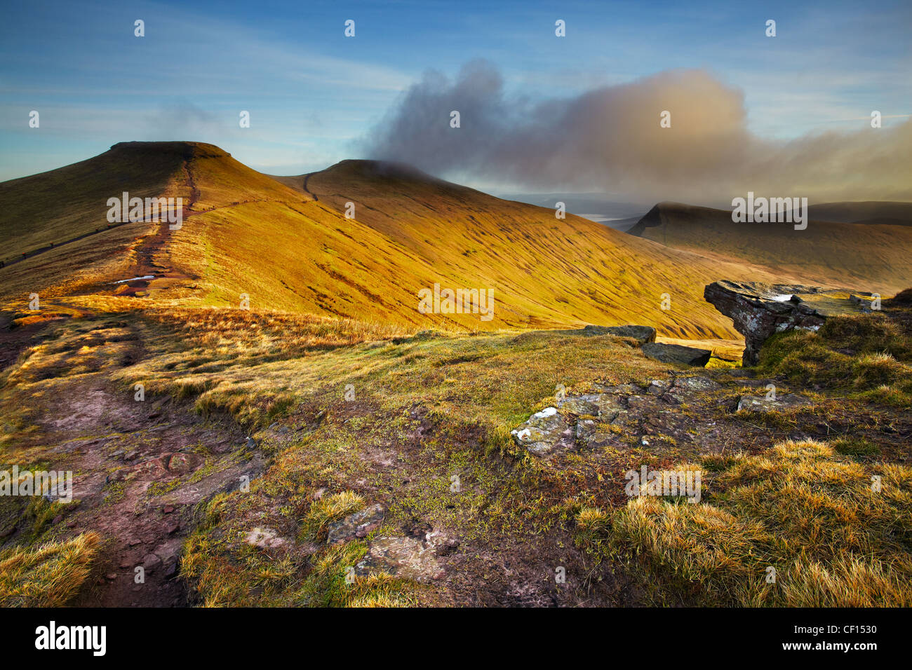 Mais-Du, Pen y Fan und Cribyn, Brecon Beacons National Park, Wales Stockbild