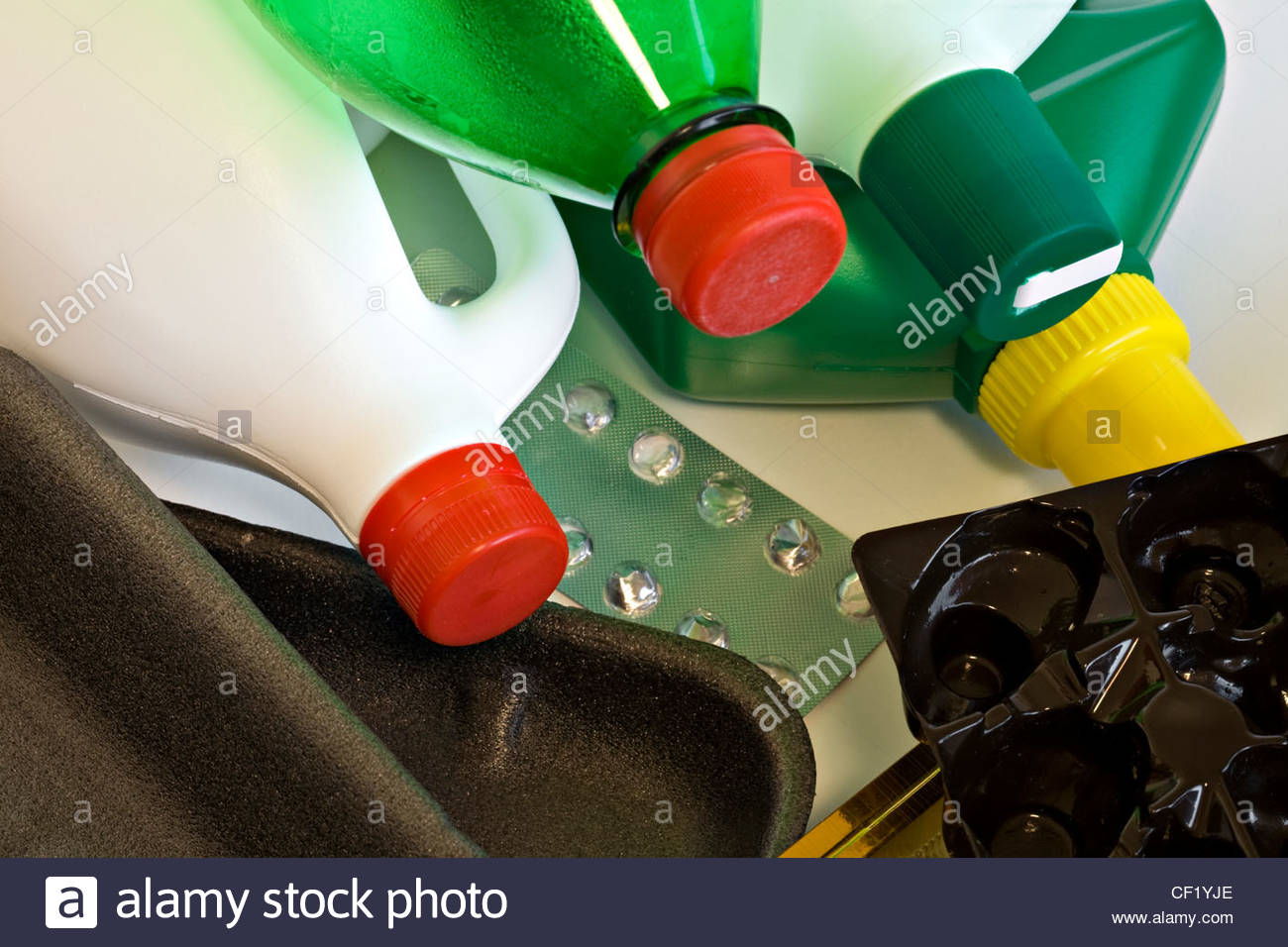 Kunststoff für Recycling Stockbild