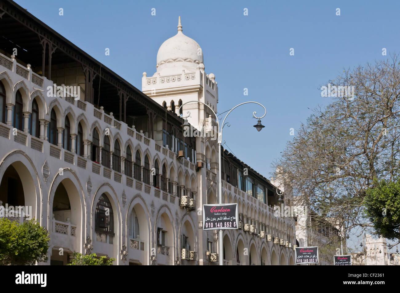 Wohlhabende Shopping Bezirk Korba Heliopolis in Kairo zeigt eine Mischung aus orientalischen & europäischen Stockbild