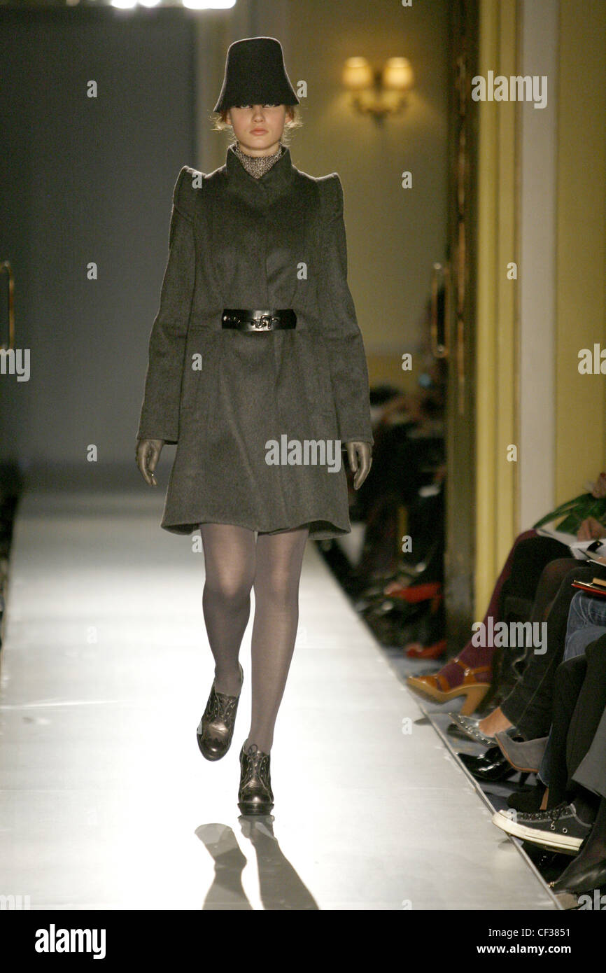 Biba London bereit zu tragen Herbst Winter grau Mantel mit