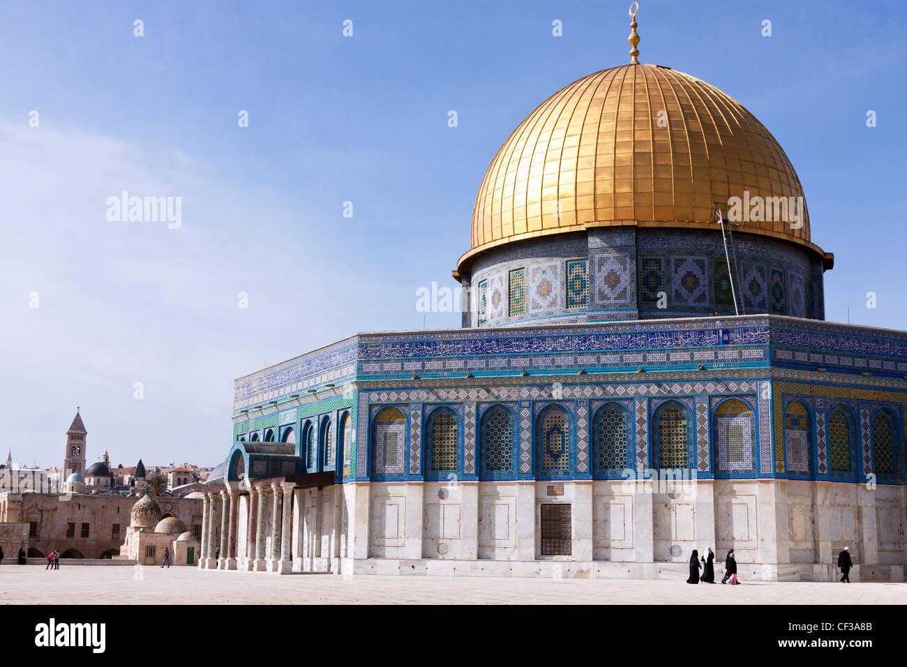 Israel, Jerusalem, Felsendom auf dem Tempelberg Stockbild