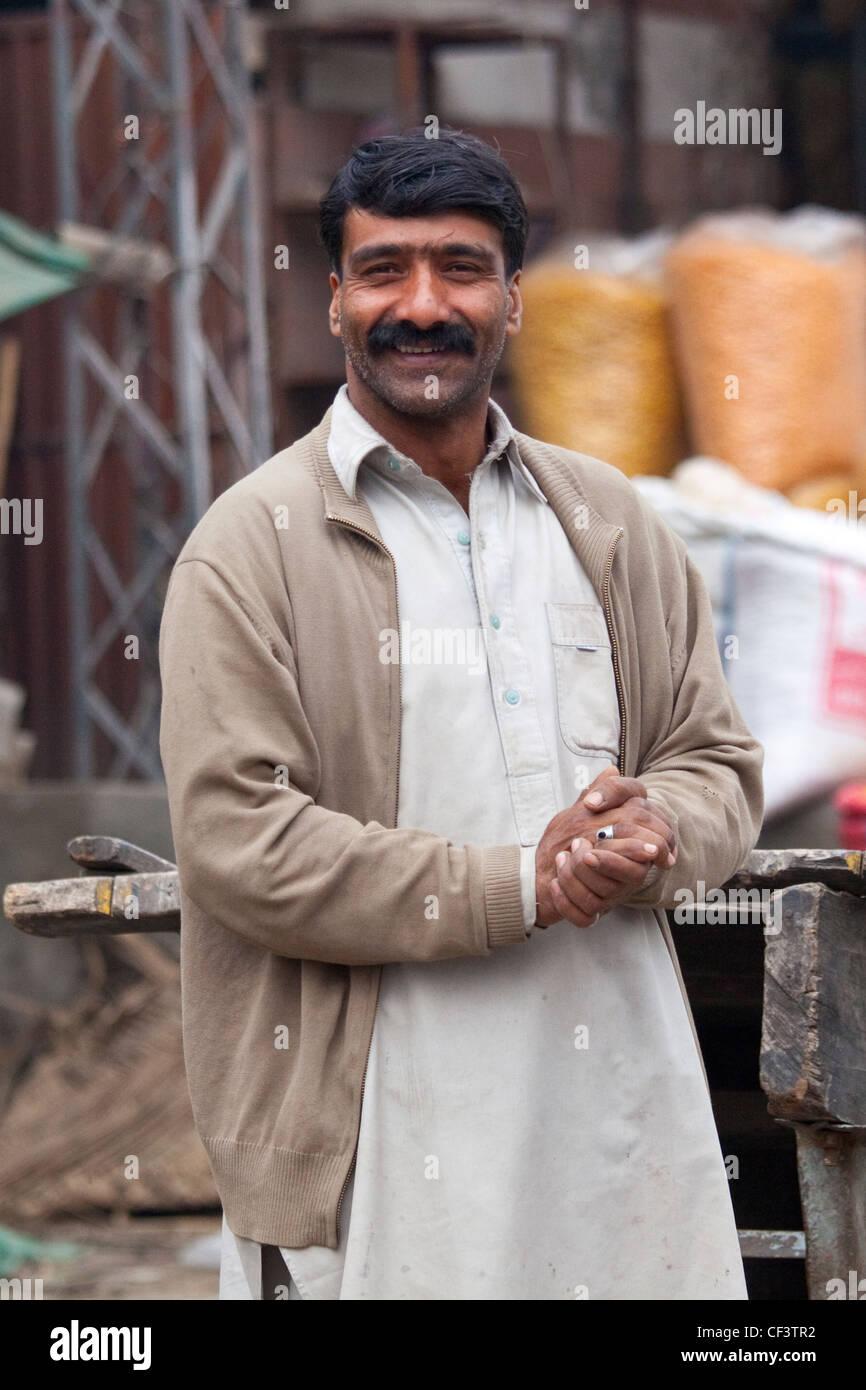 Pakistanischen Mann, Islamabad, Pakistan Stockbild