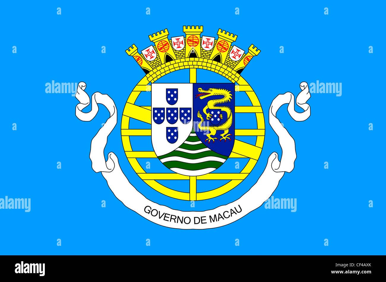 Flagge der Regierung der portugiesischen Macao 1976 bis 1999. Stockbild